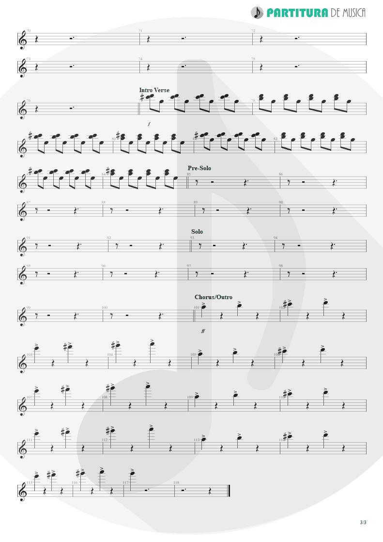 Partitura de musica de Piano - Everything's Ruined | Faith No More | Angel Dust 1992 - pag 3