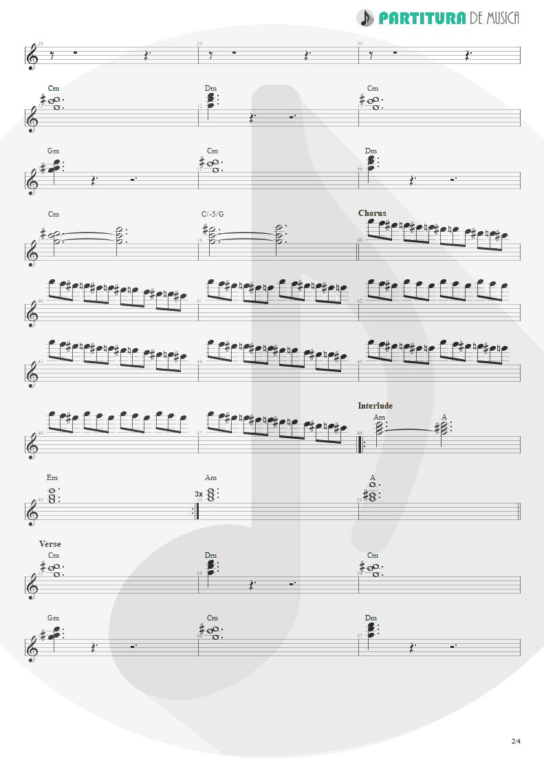 Partitura de musica de Teclado - Land Of Sunshine | Faith No More | Angel Dust 1992 - pag 2