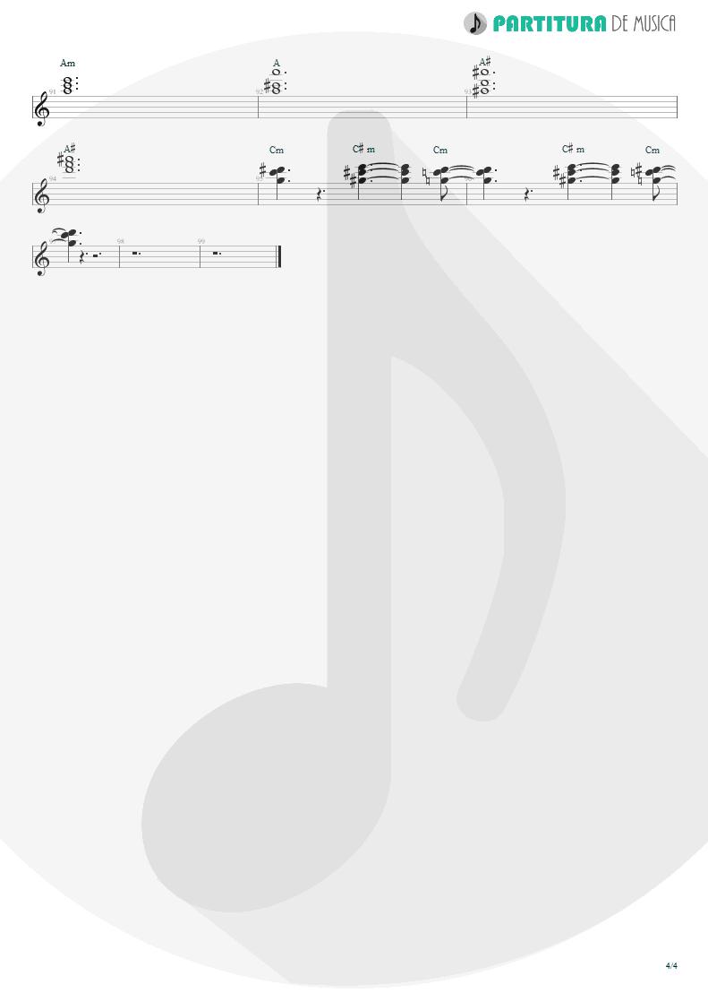 Partitura de musica de Teclado - Land Of Sunshine | Faith No More | Angel Dust 1992 - pag 4