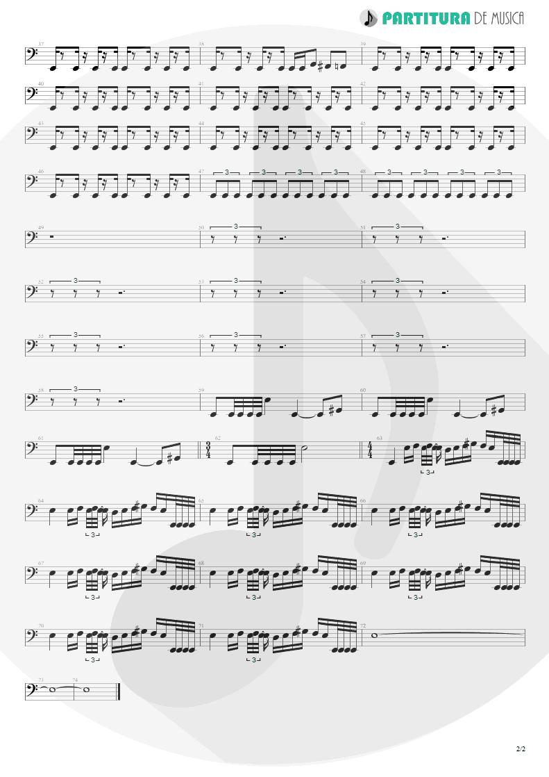 Partitura de musica de Baixo Elétrico - Smaller And Smaller | Faith No More | Angel Dust 1992 - pag 2