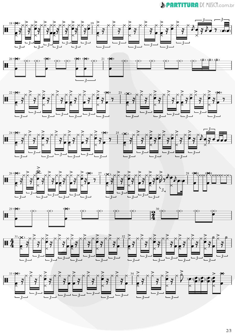 Partitura de musica de Bateria - Easy | Faith No More | Easy 1993 - pag 2