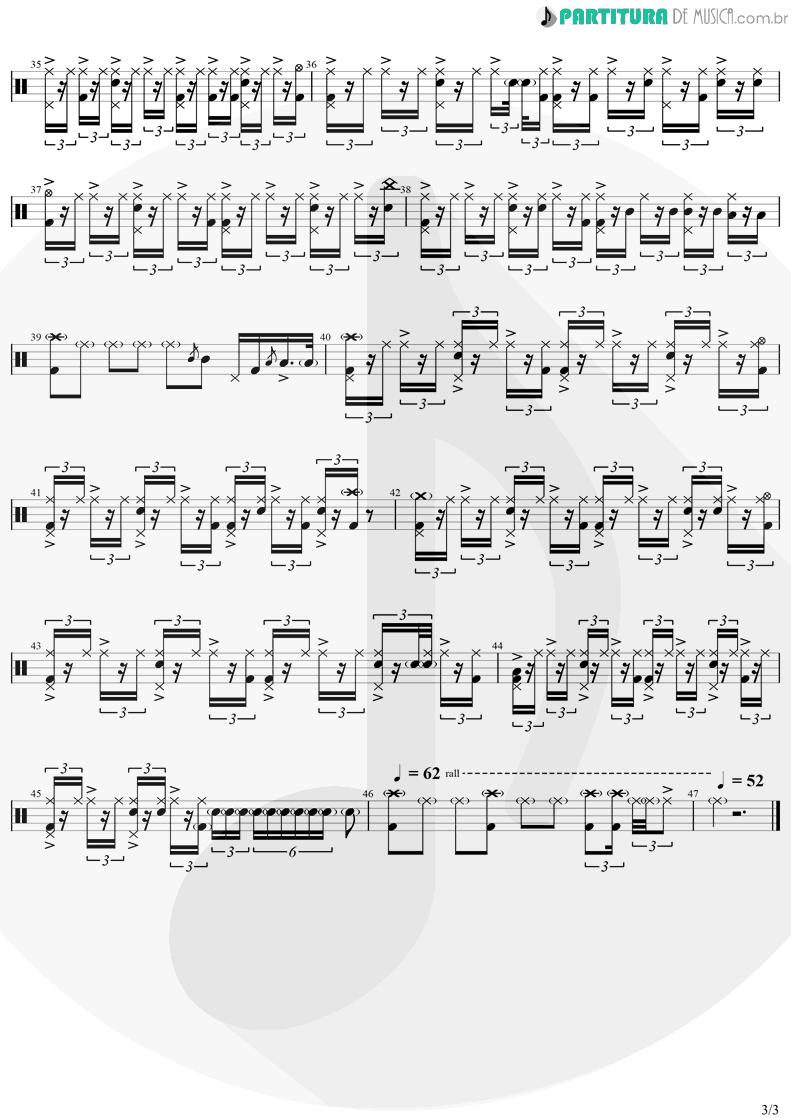 Partitura de musica de Bateria - Easy | Faith No More | Easy 1993 - pag 3
