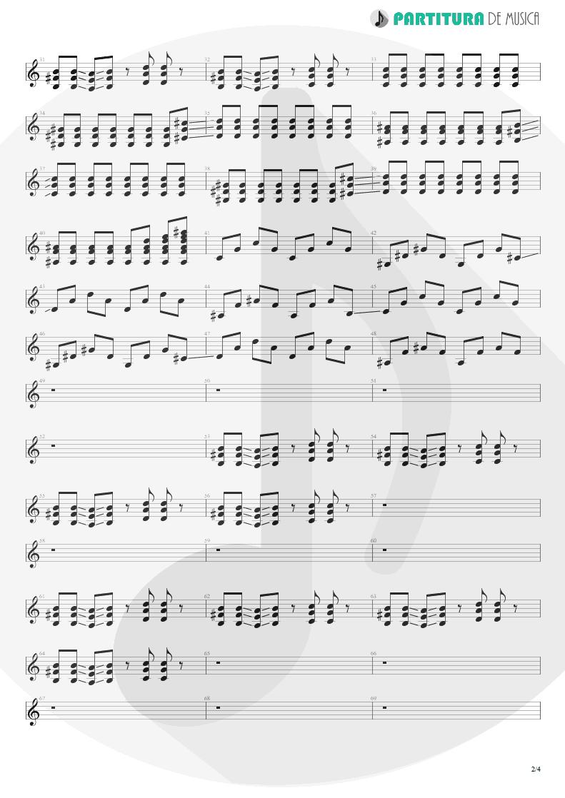Partitura de musica de Guitarra Elétrica - Digging The Grave | Faith No More | King for a Day... Fool for a Lifetime 1995 - pag 2