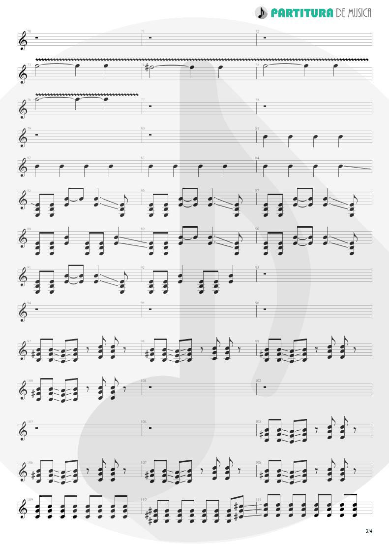 Partitura de musica de Guitarra Elétrica - Digging The Grave | Faith No More | King for a Day... Fool for a Lifetime 1995 - pag 3