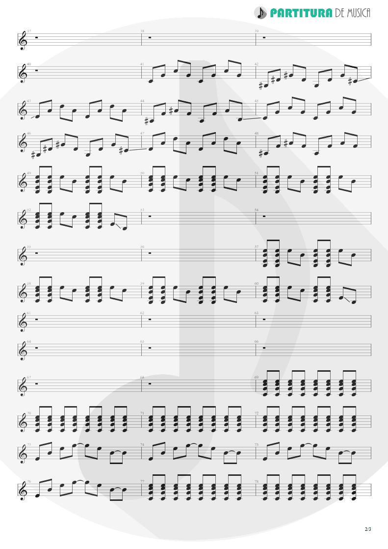 Partitura de musica de Guitarra Elétrica - Digging The Grave | Faith No More | King for a Day... Fool for a Lifetime 1995 - pag 2