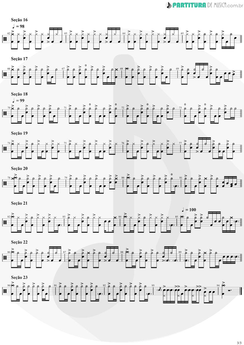 Partitura de musica de Bateria - Evidence | Faith No More | King for a Day... Fool for a Lifetime 1995 - pag 3