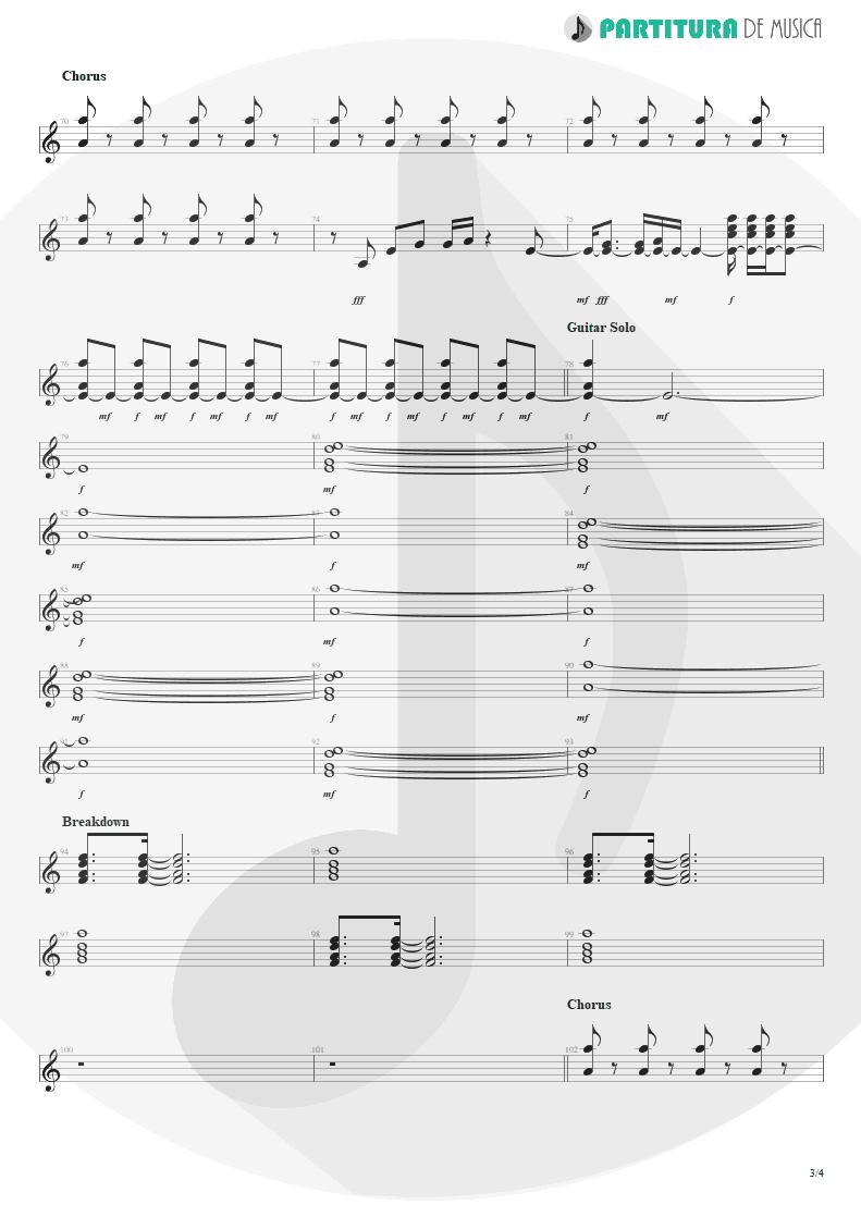 Partitura de musica de Guitarra Elétrica - Evidence | Faith No More | King for a Day... Fool for a Lifetime 1995 - pag 3