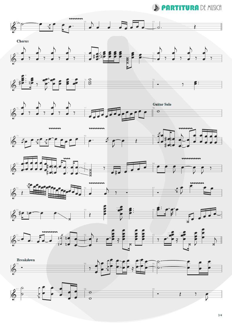 Partitura de musica de Guitarra Elétrica - Evidence   Faith No More   King for a Day... Fool for a Lifetime 1995 - pag 3