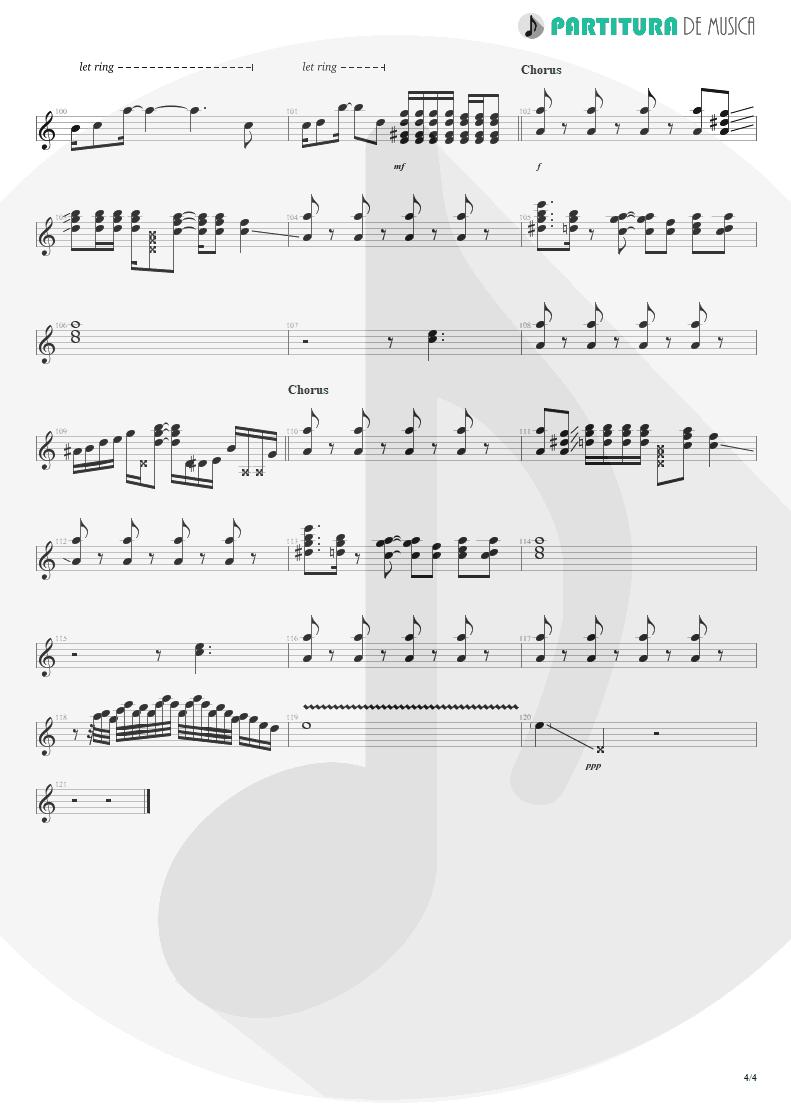 Partitura de musica de Guitarra Elétrica - Evidence   Faith No More   King for a Day... Fool for a Lifetime 1995 - pag 4