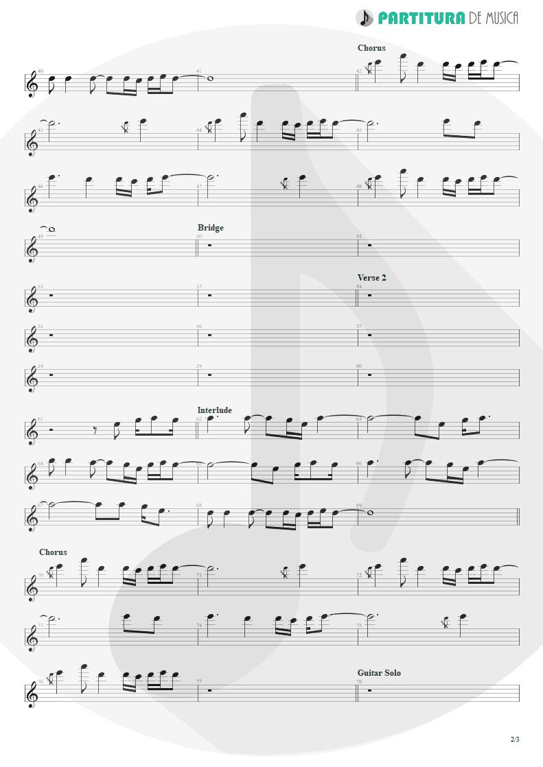Partitura de musica de Piano - Evidence | Faith No More | King for a Day... Fool for a Lifetime 1995 - pag 2