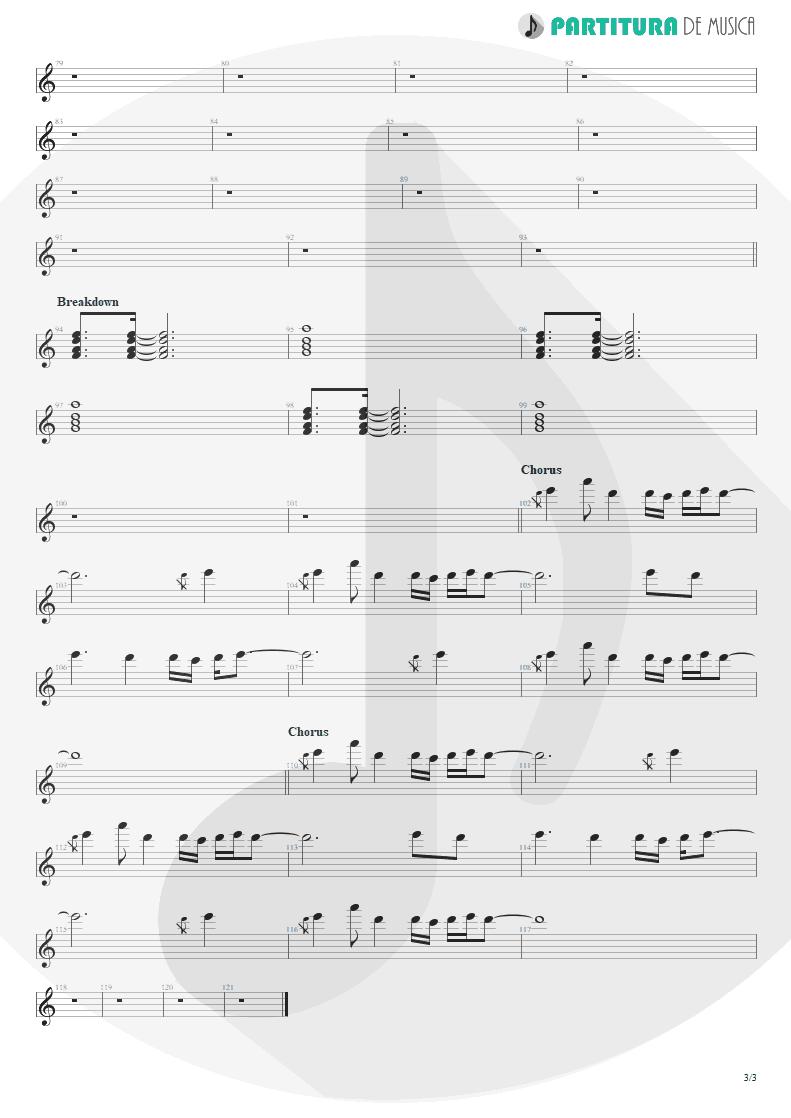Partitura de musica de Piano - Evidence | Faith No More | King for a Day... Fool for a Lifetime 1995 - pag 3