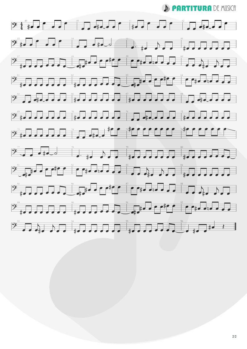 Partitura de musica de Baixo Elétrico - Get Out | Faith No More | King for a Day... Fool for a Lifetime 1995 - pag 2