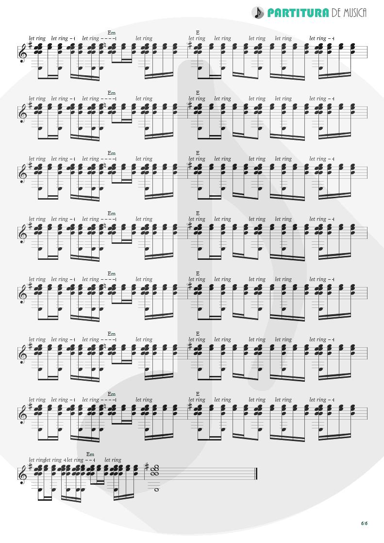Partitura de musica de Guitarra Elétrica - King For A Day | Faith No More | King for a Day... Fool for a Lifetime 1995 - pag 6