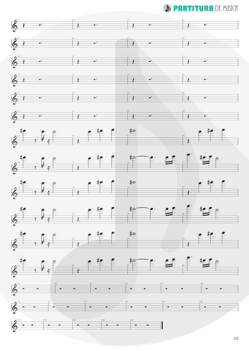 Partitura de musica de Piano - King For A Day | Faith No More | King for a Day... Fool for a Lifetime 1995 - pag 2