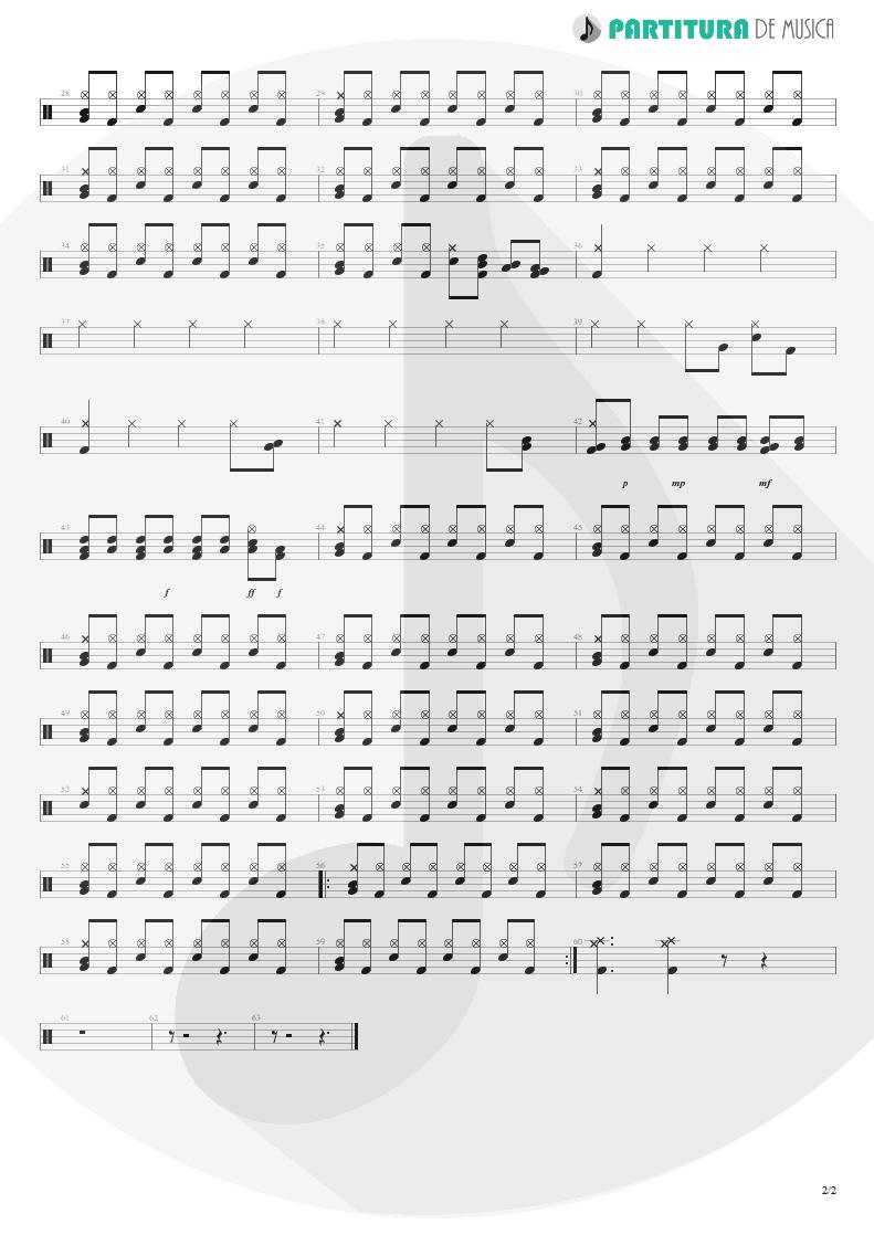 Partitura de musica de Bateria - Ricochet | Faith No More | King for a Day... Fool for a Lifetime 1995 - pag 2