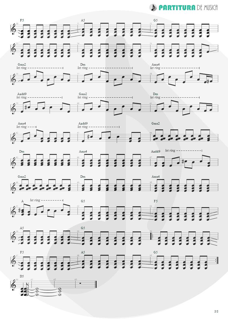 Partitura de musica de Guitarra Elétrica - Ricochet | Faith No More | King for a Day... Fool for a Lifetime 1995 - pag 2