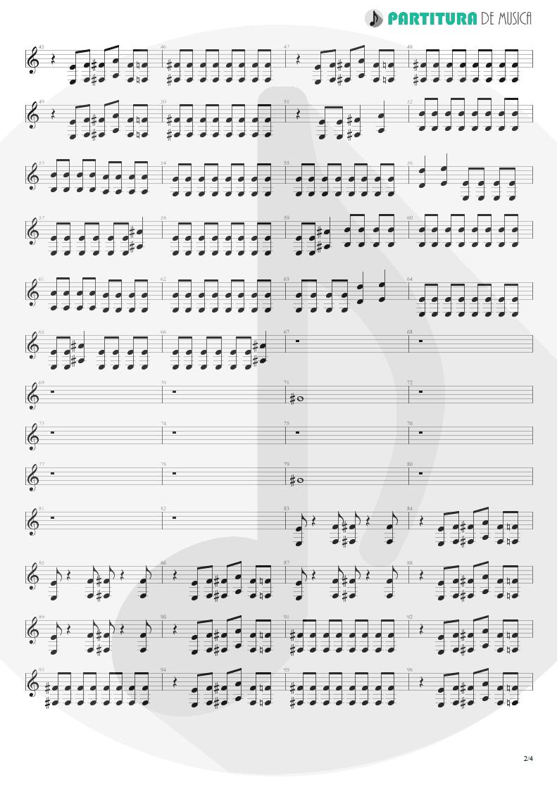 Partitura de musica de Guitarra Elétrica - The Gentle Art Of Making Enemies | Faith No More | King for a Day... Fool for a Lifetime 1995 - pag 2
