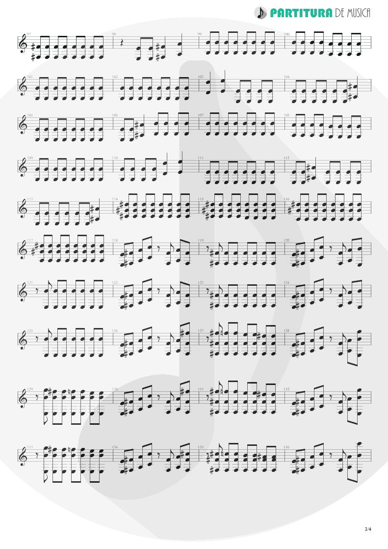 Partitura de musica de Guitarra Elétrica - The Gentle Art Of Making Enemies | Faith No More | King for a Day... Fool for a Lifetime 1995 - pag 3