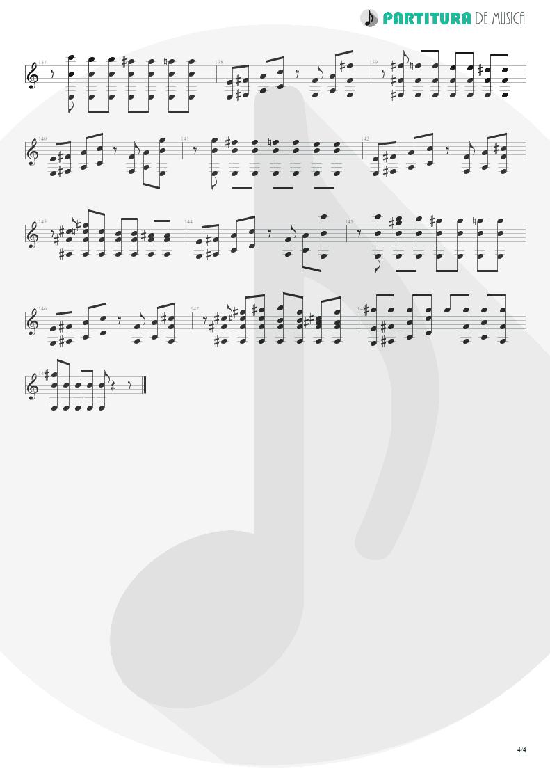 Partitura de musica de Guitarra Elétrica - The Gentle Art Of Making Enemies | Faith No More | King for a Day... Fool for a Lifetime 1995 - pag 4