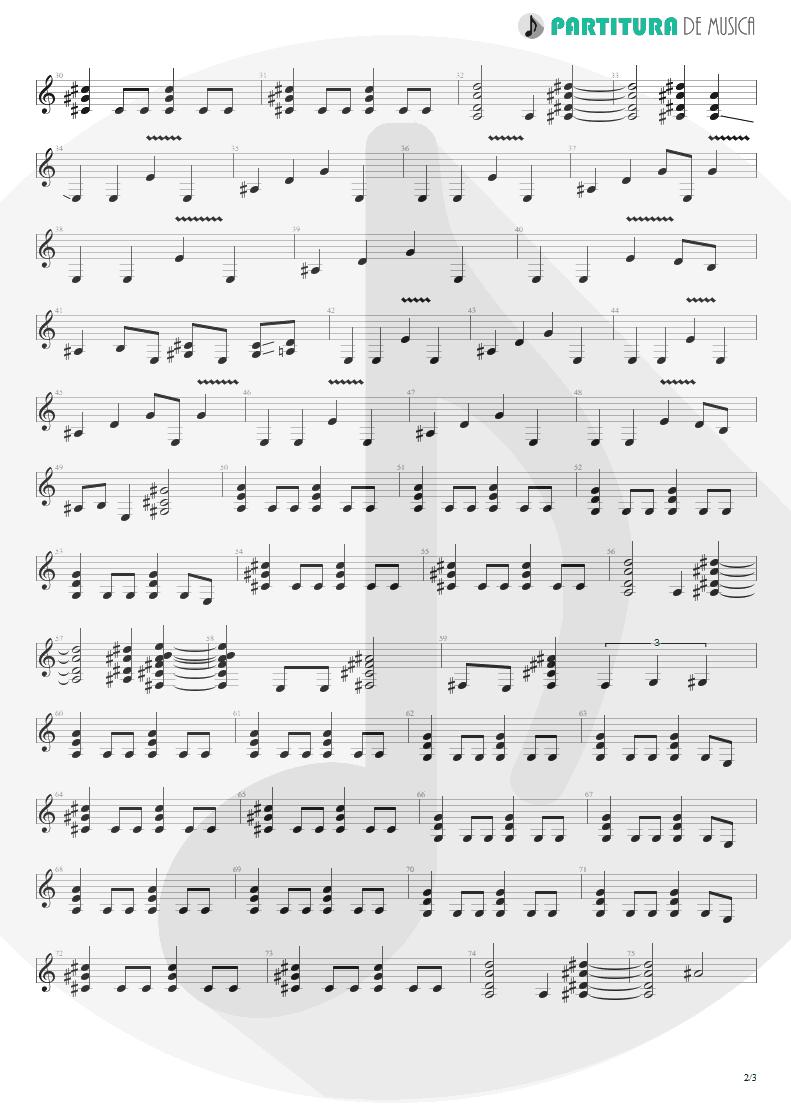 Partitura de musica de Guitarra Elétrica - The Last To Know | Faith No More | King for a Day... Fool for a Lifetime 1995 - pag 2