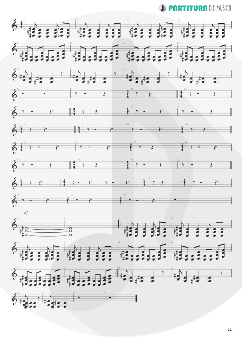 Partitura de musica de Guitarra Elétrica - Collision | Faith No More | Album of the Year 1997 - pag 2