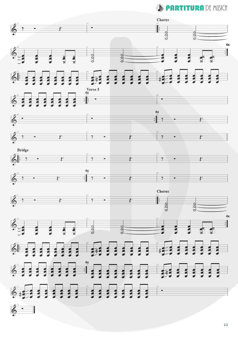 Partitura de musica de Guitarra Elétrica - Helpless | Faith No More | Album of the Year 1997 - pag 2