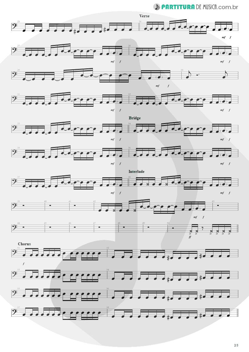 Partitura de musica de Baixo Elétrico - Dance, Dance | Fall Out Boy | From Under the Cork Tree 2005 - pag 2