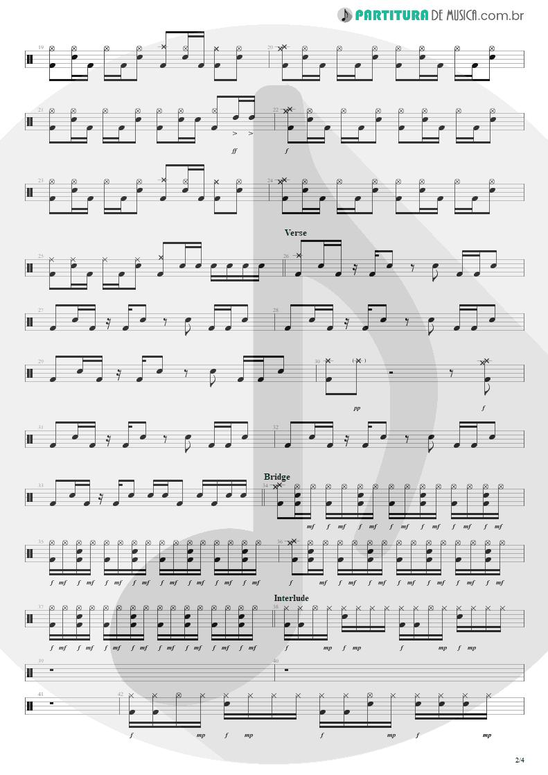Partitura de musica de Bateria - Dance, Dance | Fall Out Boy | From Under the Cork Tree 2005 - pag 2