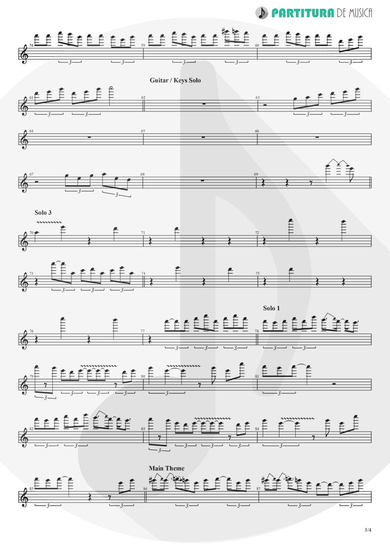 Partitura de musica de Guitarra Elétrica - Chuck Rock | Games | Sega Mega Drive 1991 - pag 3