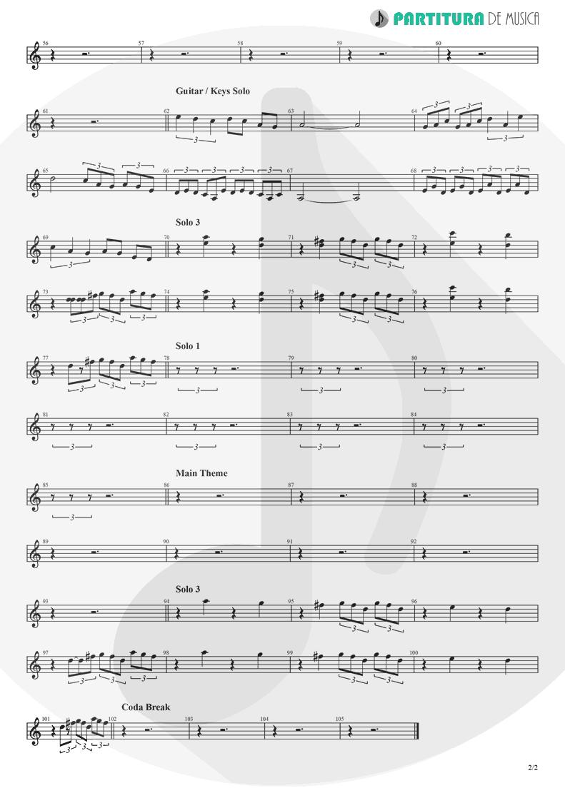 Partitura de musica de Órgão - Chuck Rock | Games | Sega Mega Drive 1991 - pag 2
