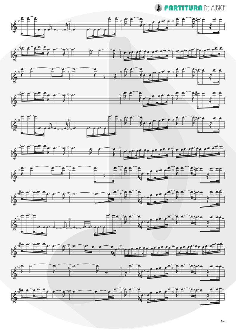 Partitura de musica de Canto - Fanfare and Lucca Theme   Games   Nintendo Game Club 1995 - pag 2