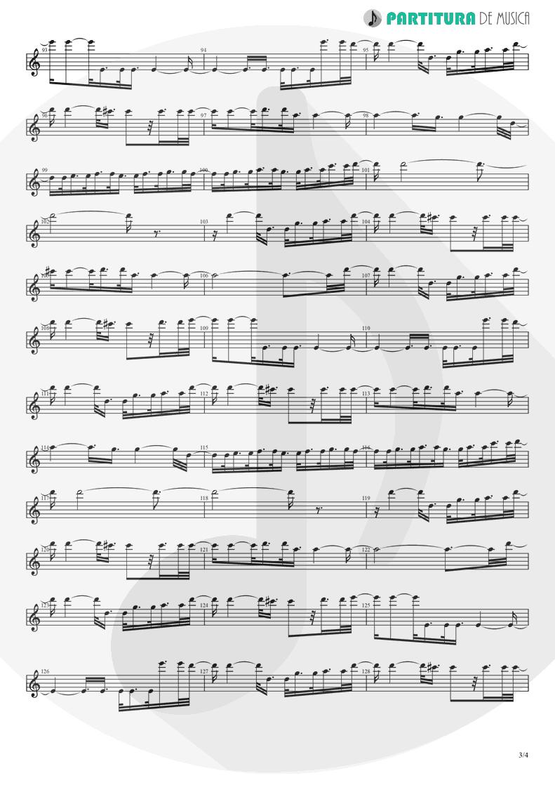 Partitura de musica de Canto - Fanfare and Lucca Theme   Games   Nintendo Game Club 1995 - pag 3