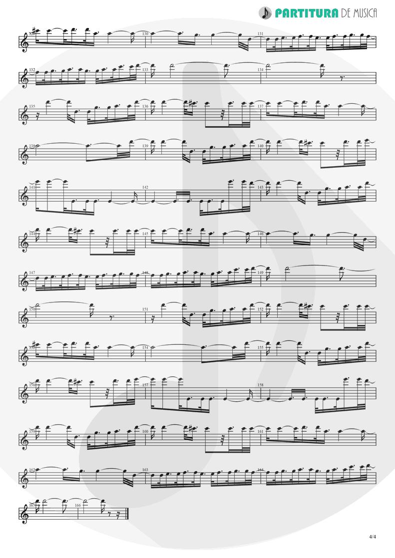 Partitura de musica de Canto - Fanfare and Lucca Theme   Games   Nintendo Game Club 1995 - pag 4