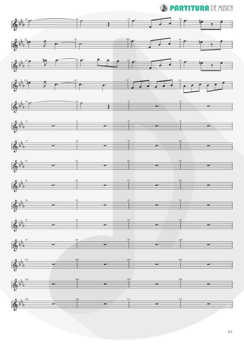 Partitura de musica de Trompete - Fanfare and Lucca Theme | Games | Nintendo Game Club 1995 - pag 2