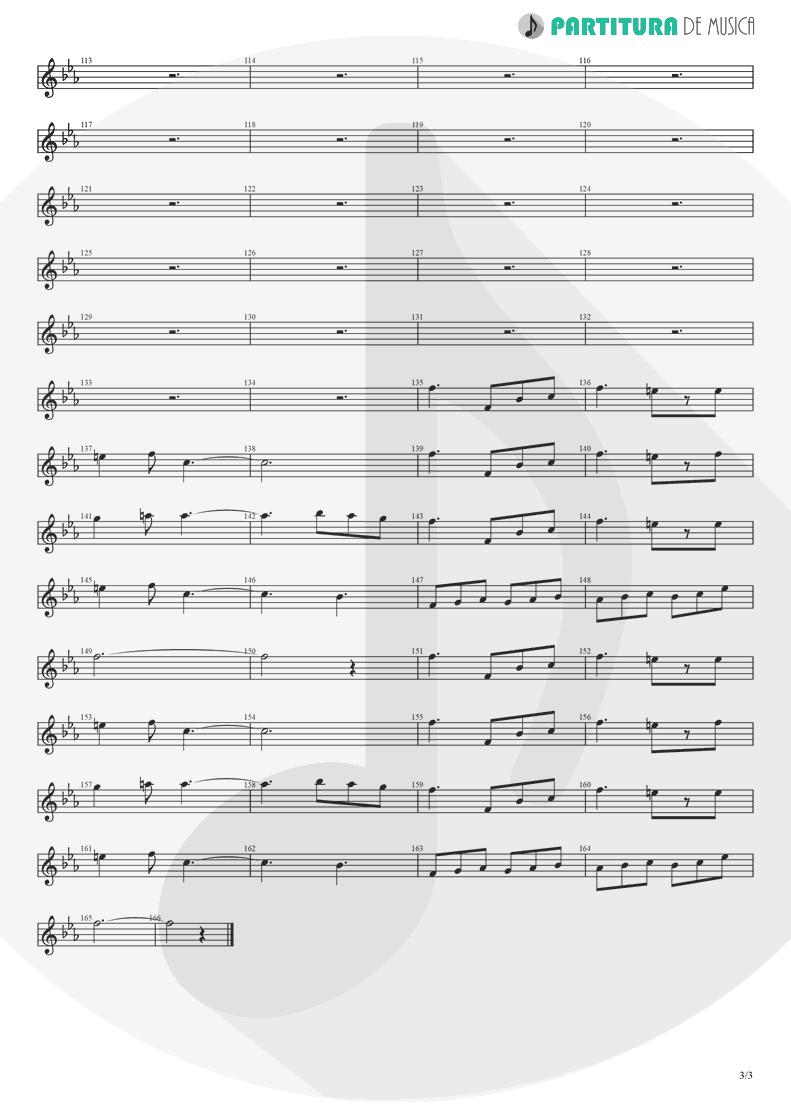 Partitura de musica de Trompete - Fanfare and Lucca Theme | Games | Nintendo Game Club 1995 - pag 3
