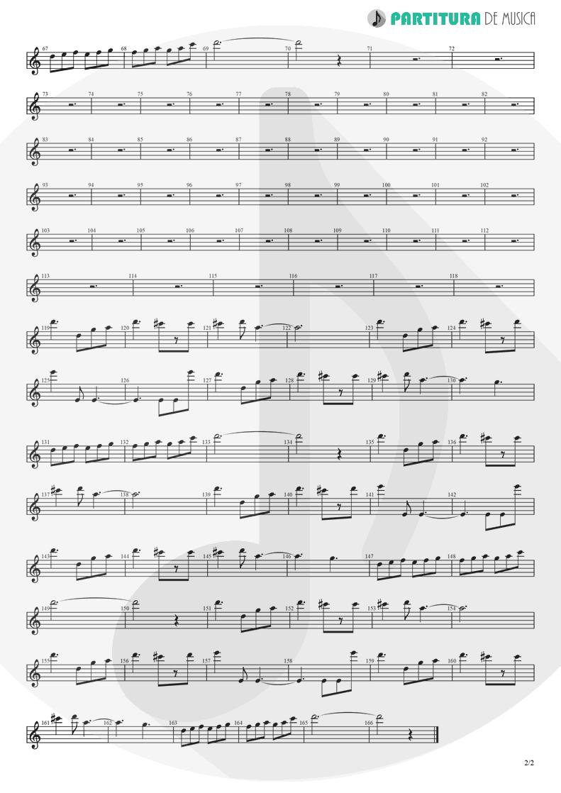 Partitura de musica de Violino - Fanfare and Lucca Theme   Games   Nintendo Game Club 1995 - pag 2