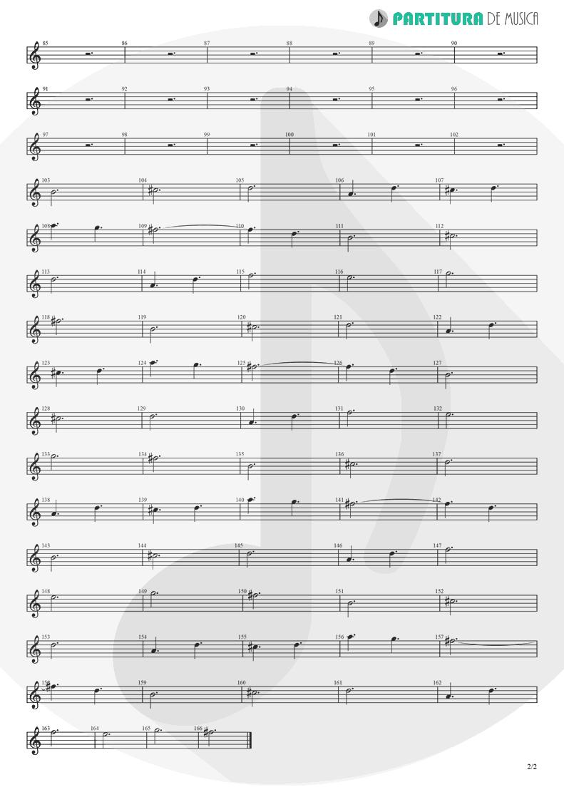 Partitura de musica de Violino - Fanfare and Lucca Theme | Games | Nintendo Game Club 1995 - pag 2