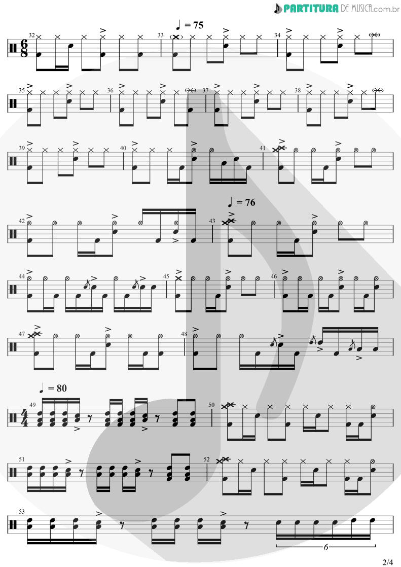 Partitura de musica de Bateria - Iris | Goo Goo Dolls | Dizzy Up The Girl 1998 - pag 2