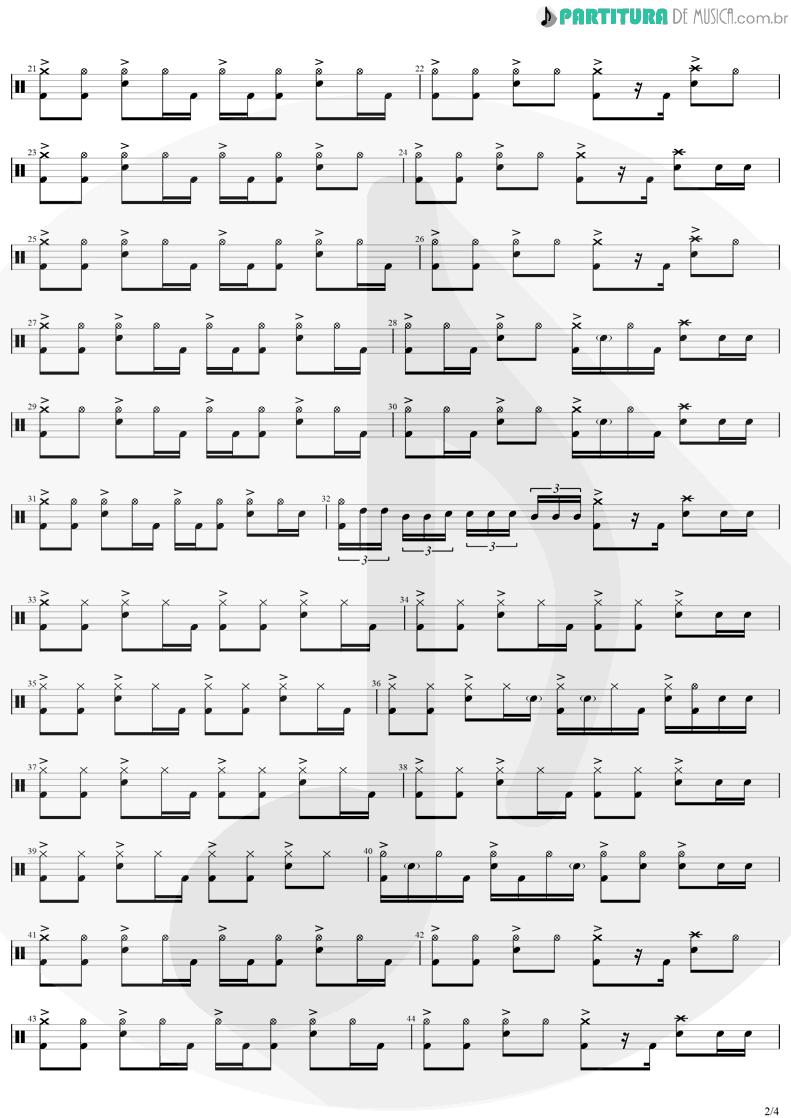Partitura de musica de Bateria - Safari Song | Greta Van Fleet | Black Smoke Rising 2017 - pag 2