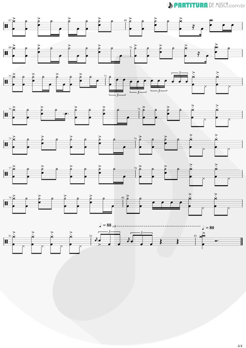 Partitura de musica de Bateria - Safari Song | Greta Van Fleet | Black Smoke Rising 2017 - pag 4