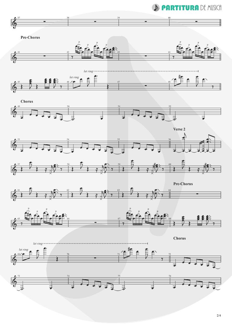 Partitura de musica de Guitarra Elétrica - Crazy On You | Heart | Dreamboat Annie 1976 - pag 2