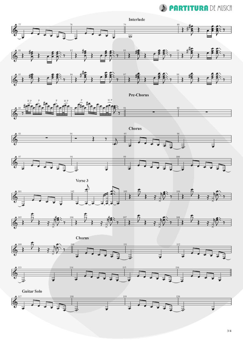 Partitura de musica de Guitarra Elétrica - Crazy On You | Heart | Dreamboat Annie 1976 - pag 3