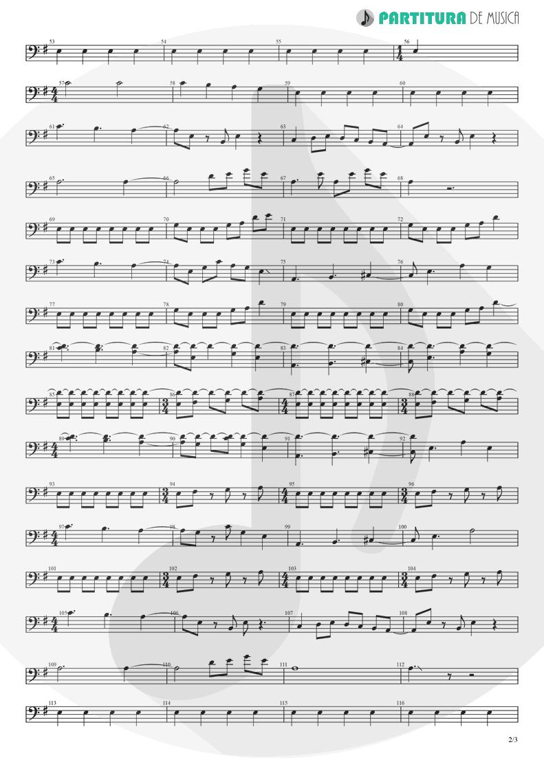Partitura de musica de Baixo Elétrico - Barracuda | Heart | Little Queen 1977 - pag 2