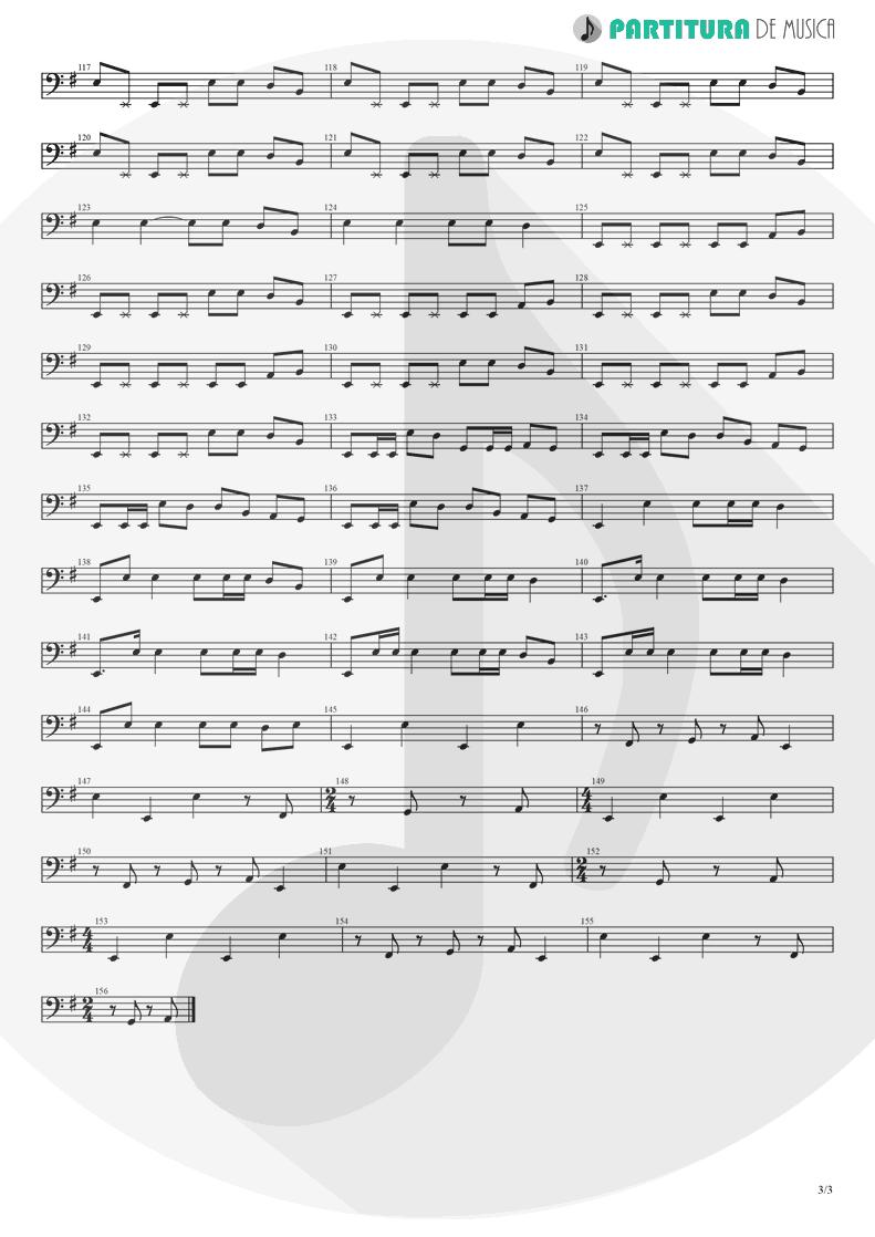 Partitura de musica de Baixo Elétrico - Barracuda | Heart | Little Queen 1977 - pag 3