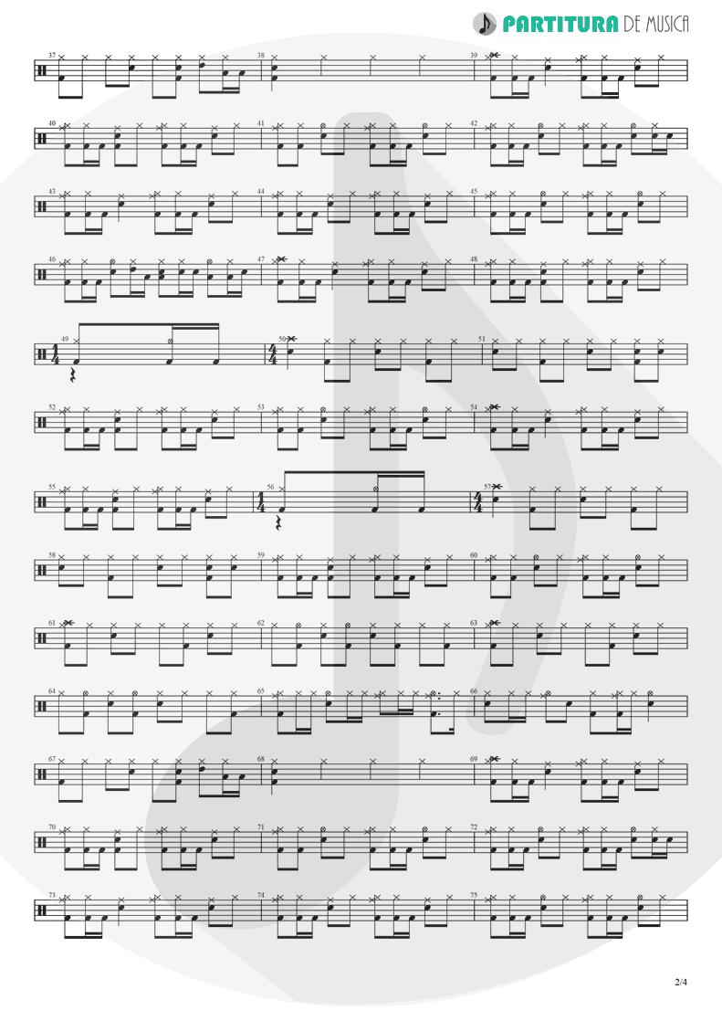 Partitura de musica de Bateria - Barracuda | Heart | Little Queen 1977 - pag 2