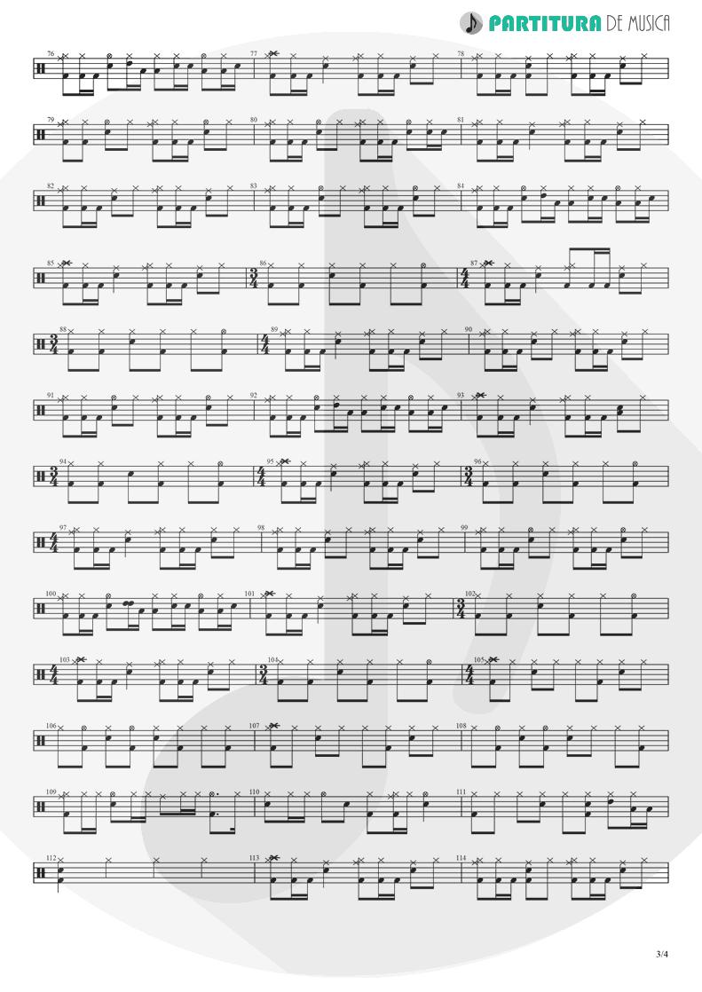 Partitura de musica de Bateria - Barracuda | Heart | Little Queen 1977 - pag 3