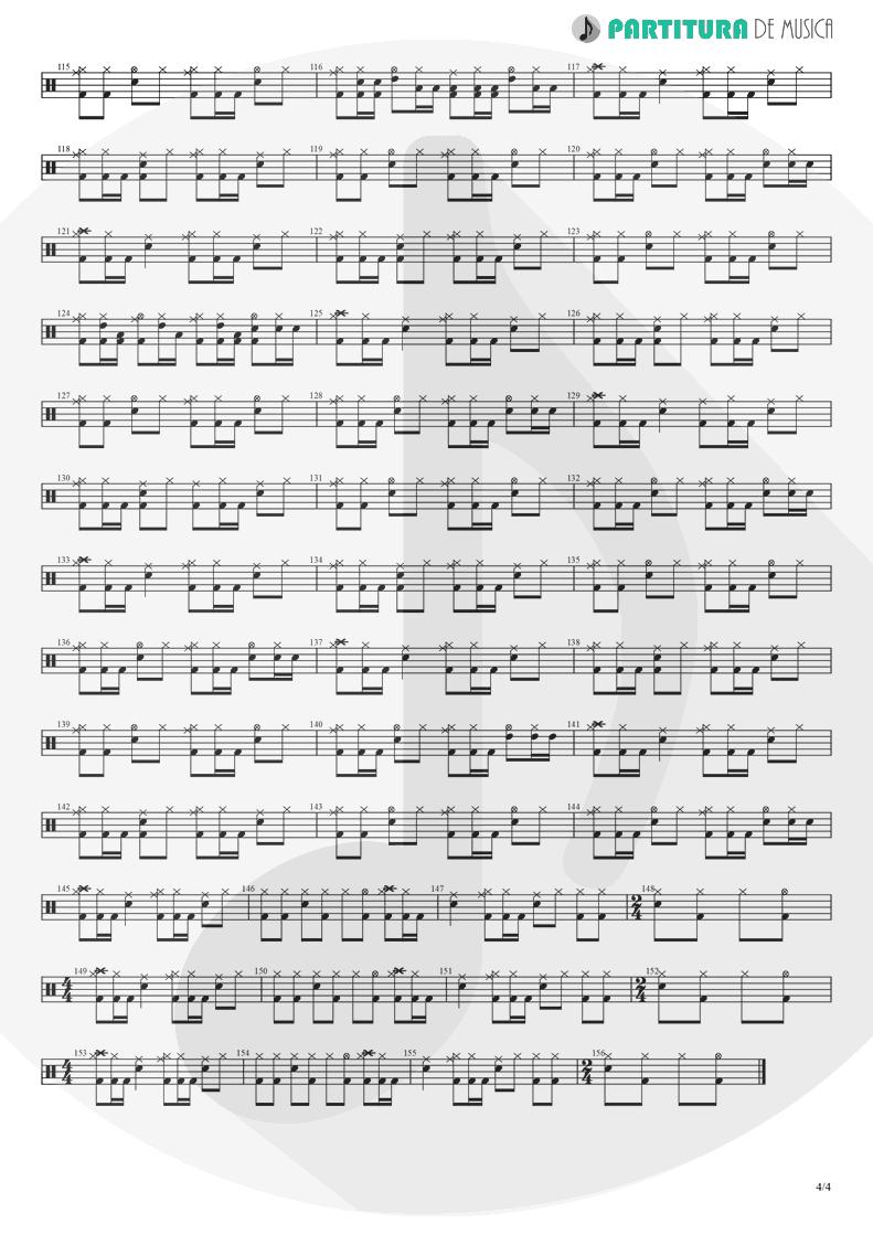 Partitura de musica de Bateria - Barracuda | Heart | Little Queen 1977 - pag 4