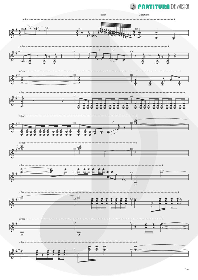Partitura de musica de Guitarra Elétrica - Barracuda   Heart   Little Queen 1977 - pag 5