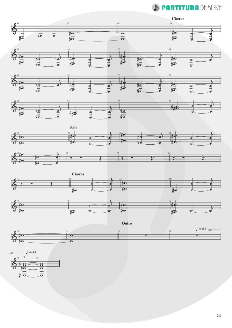 Partitura de musica de Teclado - Alone | Heart | Bad Animals 1987 - pag 2