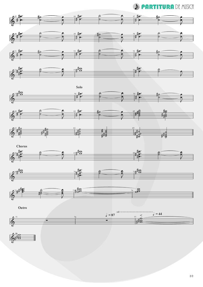 Partitura de musica de Violino - Alone | Heart | Bad Animals 1987 - pag 2